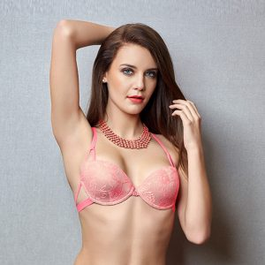 Lace Embrace Front Open Bra With Designer Back